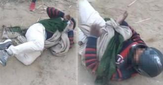 सरेआम दलित की पिटाई, जबरन लगवाए  जयकारे, पुलिस ने मामला दर्ज किया, आरोपियों की तलाश जारी