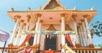 कम्बोडियाई परंपरा से बना भगवान बुद्ध का मंदिर, जनता को समर्पित